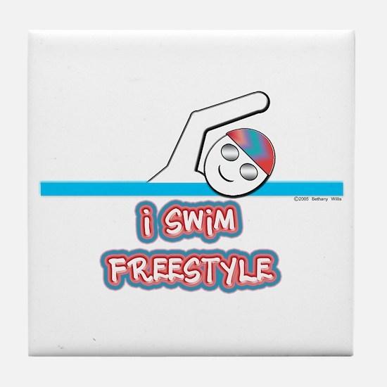I Swim Freestyle Tile Coaster