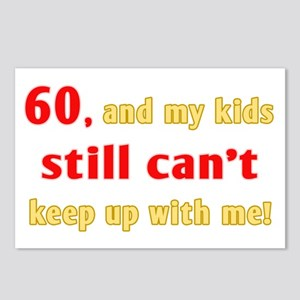 Witty 60th Birthday Postcards (Package of 8)