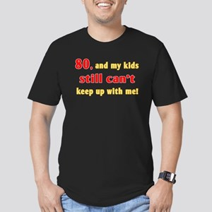 Witty 80th Birthday Men's Fitted T-Shirt (dark)