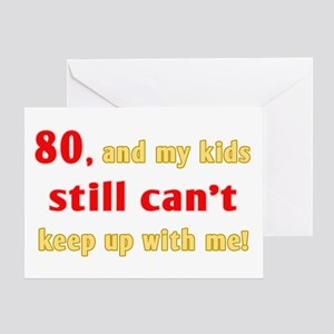 Witty 80th Birthday Greeting Card