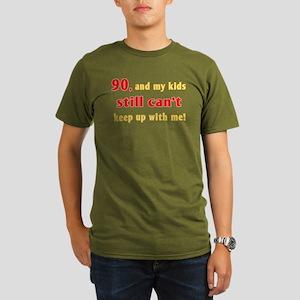Witty 90th Birthday Organic Mens T Shirt Dark