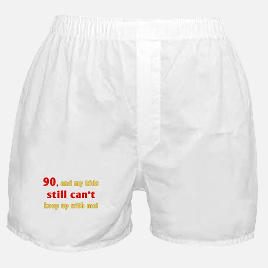 Witty 90th Birthday Boxer Shorts