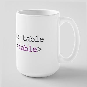 CSS HTML Large Mug