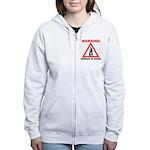 Warning - woman at work Women's Zip Hoodie