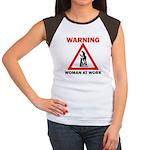 Warning - woman at work Women's Cap Sleeve T-Shirt