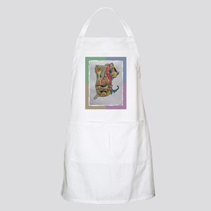 Apron with Airedale map
