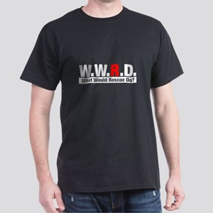 WWRD What Would Roscoe Do? Black T-Shirt