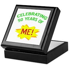 Celebrating My 50th Birthday Keepsake Box