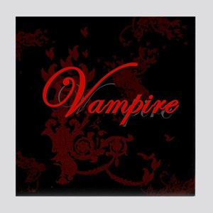 Vampire Ornamental Tile Coaster