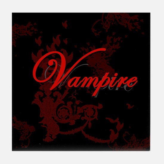 Vampire Ornamental Tile Coaster