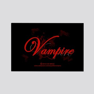 Vampire Ornamental Rectangle Magnet