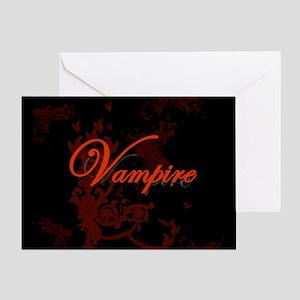 Vampire Ornamental Greeting Card