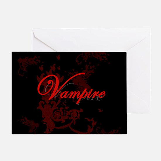 Vampire Ornamental Greeting Card