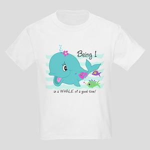 Whale 1st Birthday Kids Light T-Shirt