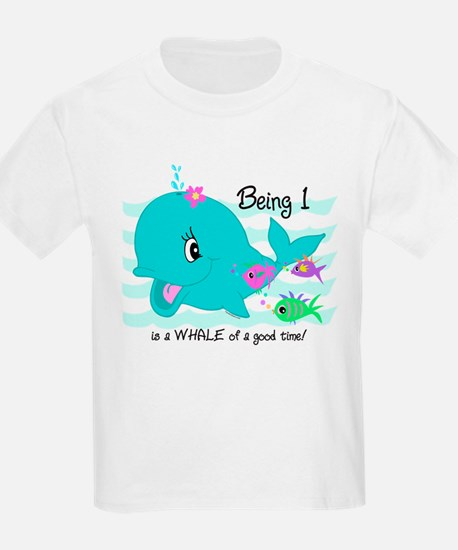 Whale 1st Birthday T-Shirt