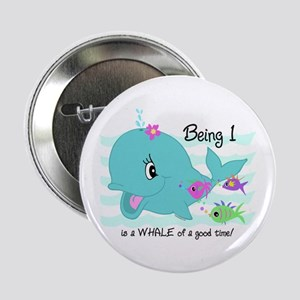 """Whale 1st Birthday 2.25"""" Button"""