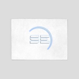 SpaceEngine Icon Square Transparent 5'x7'Area Rug