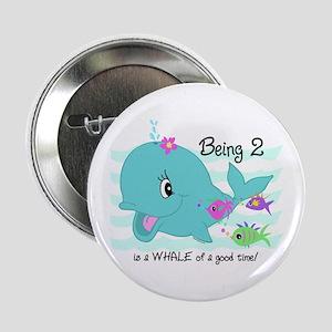 "Whale 2nd Birthday 2.25"" Button"