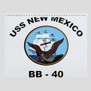 USS New Mexico Ship's Image Wall Calendar