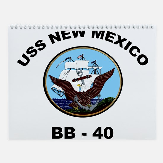 USS New Mexico Ship's Image Wall Calendar