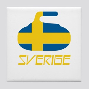 Sweden Curling Tile Coaster