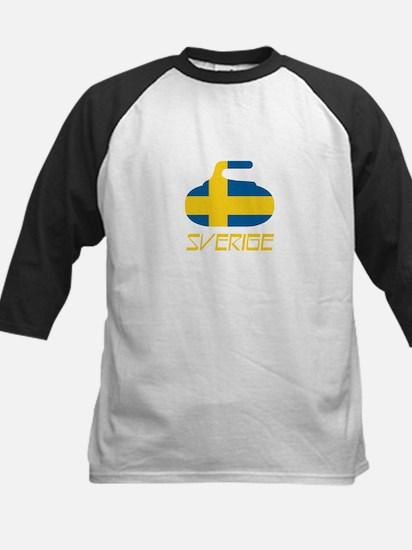Sweden Curling Kids Baseball Jersey