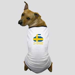Sweden Curling Dog T-Shirt