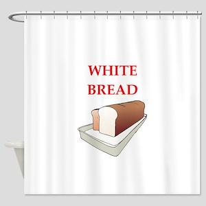 white bread Shower Curtain