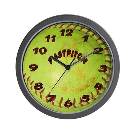 Fastpitch Softball Wall Clock
