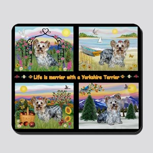 4 Seasons with a Yorkie Mousepad