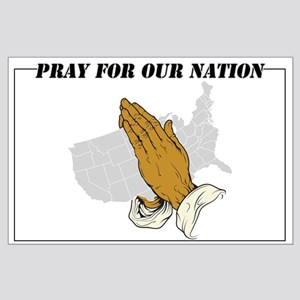 Pray For Our Nation Large Poster