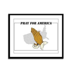 Pray For America Framed Panel Print