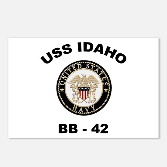 USS Idaho BB 42 Postcards (Package of 8)