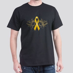 Gold Ribbon Dark T-Shirt