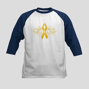Gold Ribbon Kids Baseball Jersey