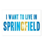 I Want To Live In Springfield Postcards (Package o