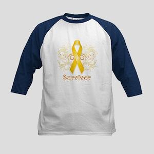 Childhood Cancer Survivor Kids Baseball Jersey