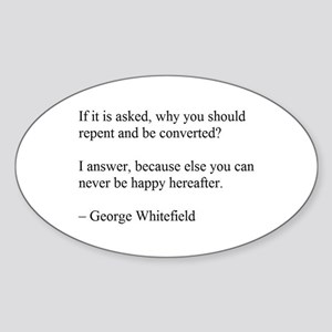 George Whitefield Sticker (Oval)