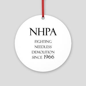 NHPA Ornament (Round)