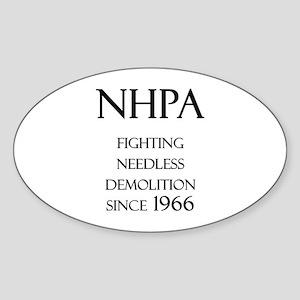 NHPA Oval Sticker