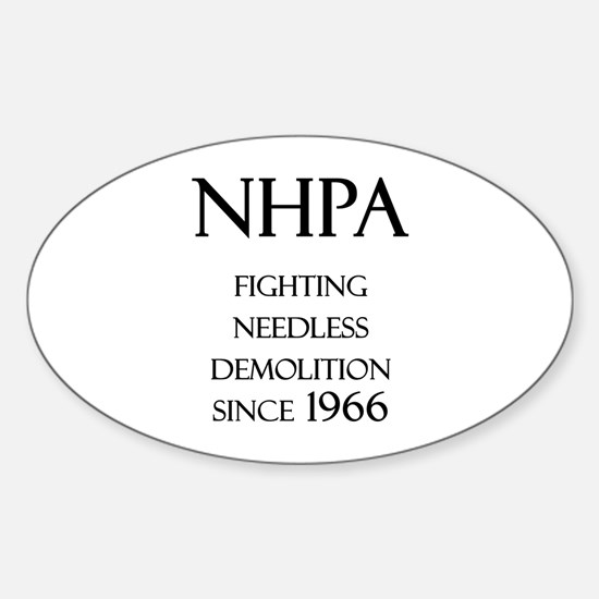 NHPA Oval Decal