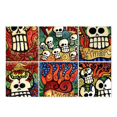 Day of the Dead Sugar Skulls Postcards (Package of