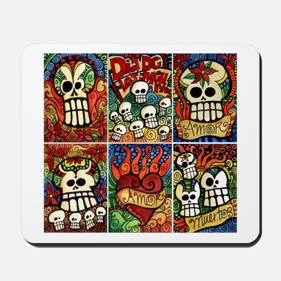 Day of the Dead Sugar Skulls Mousepad