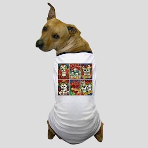 Day of the Dead Sugar Skulls Dog T-Shirt