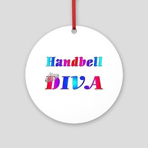 Handbell Diva Ornament (Round)