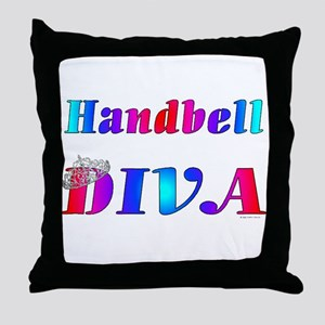 Handbell Diva Throw Pillow