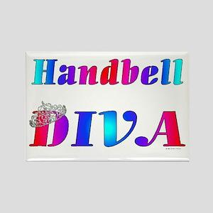 Handbell Diva Rectangle Magnet
