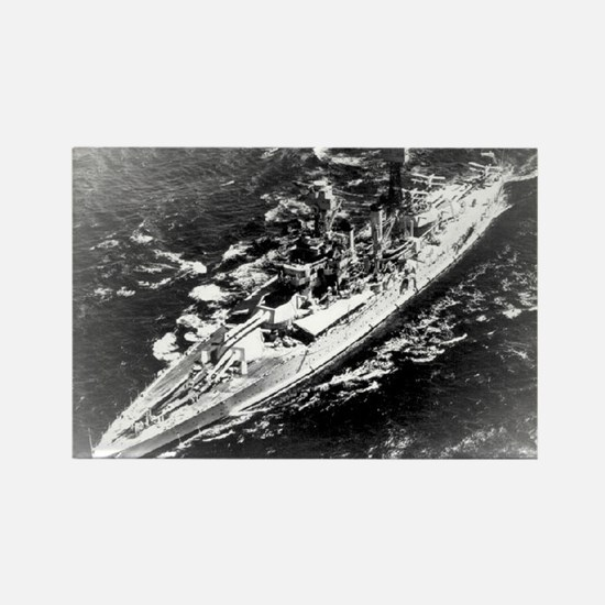 USS West Virginia Ship's Image Rectangle Magnet