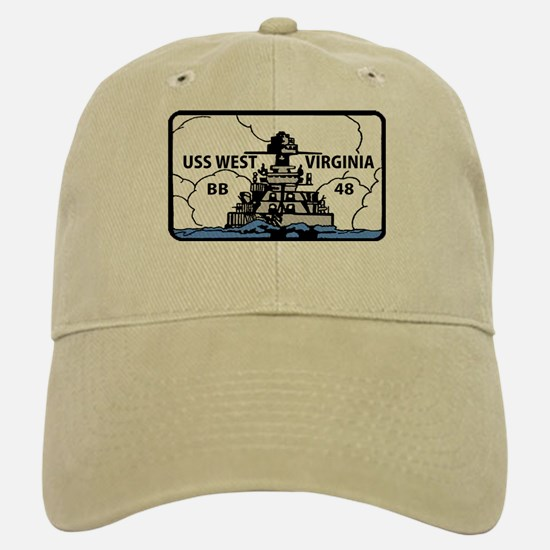 USS West Virginia BB 48 Baseball Baseball Cap