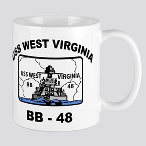USS West Virginia BB 48 Mug